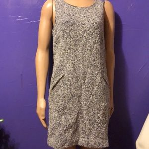 Ann Taylor Wool Dress with zip pockets size 10